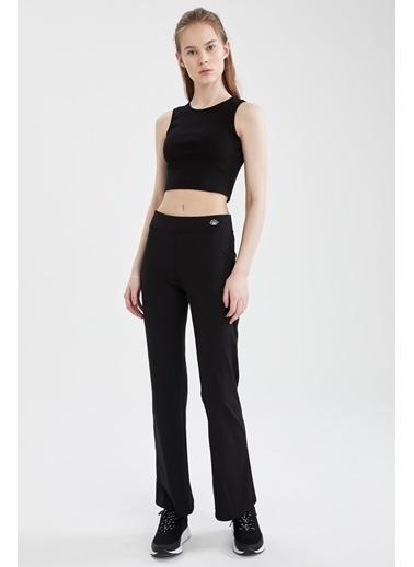 DeFacto Regular Fit Beli Düğme Detaylı Pantolon Siyah